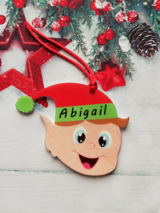 Elf Head Christmas Ornament Decoration